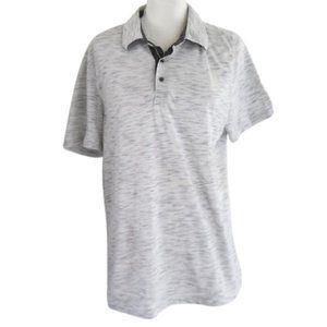Van Heusen Men's White & Blue Slim Fit Polo